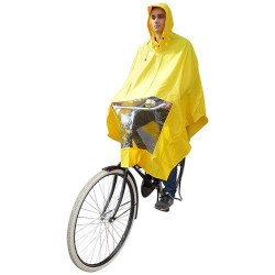 Hooodie Poncho Un-Taille-Fits-All Jaune